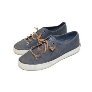 Sperry Topsider Blue Seacoast Canvas Sneaker Shoes
